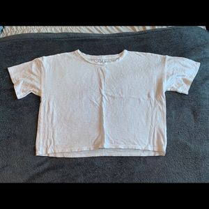 American Eagle Crisp White Crop Tee
